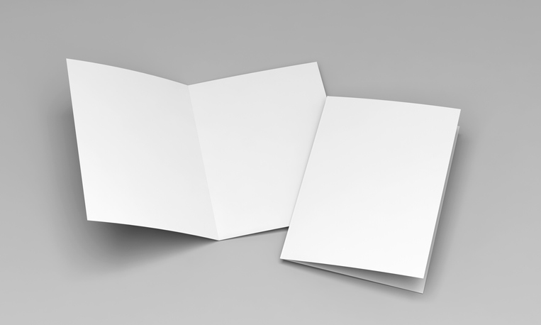 postcard white template 3D