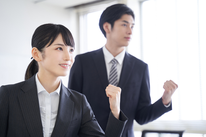 Japanese businesspersons are motivated to achieve their goals in the office.